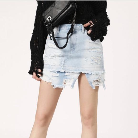 d20b88c8 Diesel Skirts   Womens Denim Mini Skirt Demixy   Poshmark